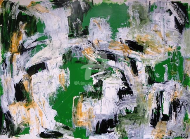 Sio Montera - Untitled on Light Green