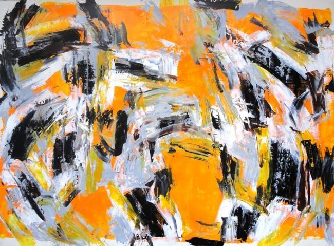 Sio Montera - Untitled on Cadmium Yellow