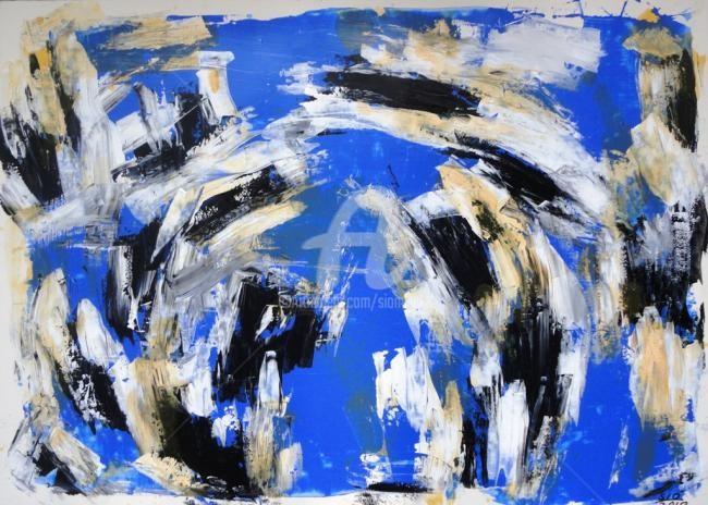 Sio Montera - Untitled on Cobalt Blue