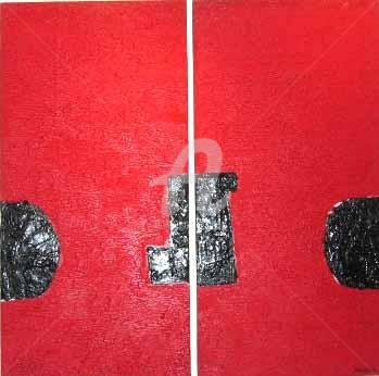 Sio Montera - Composition in Red and Black